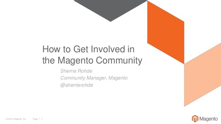 I'm often asked how to get involved in the Magento Community. Here are some tips of places on where to start that you may or may not be aware of. Please feel f…