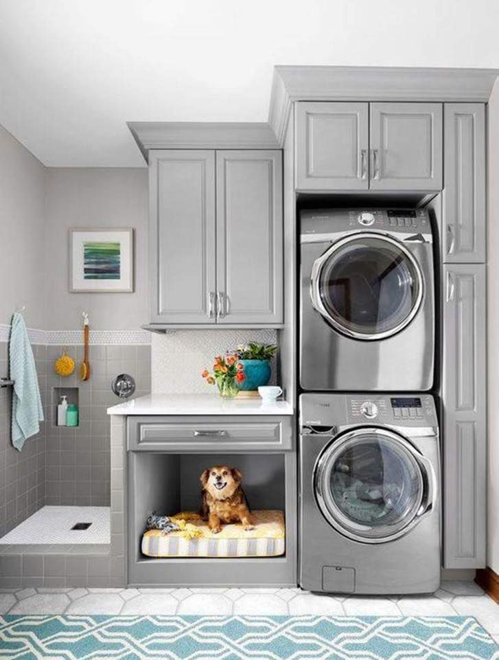 Laundry and dog space all in one! Wow! DIY Everything facebook page