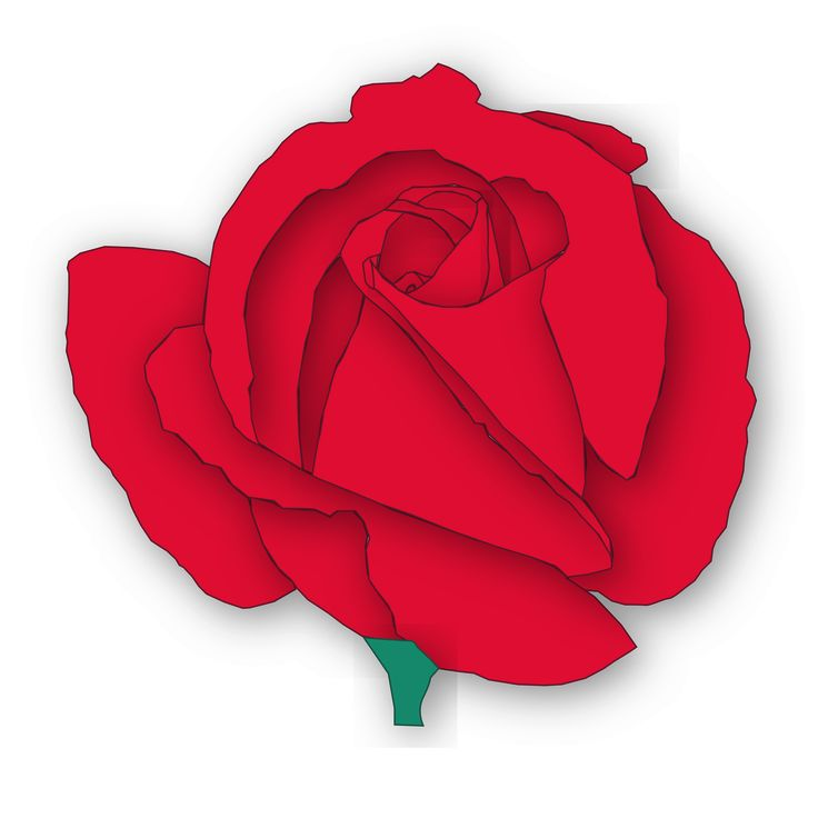 Red Rose by @Pippi2011, Red Rose, on @openclipart