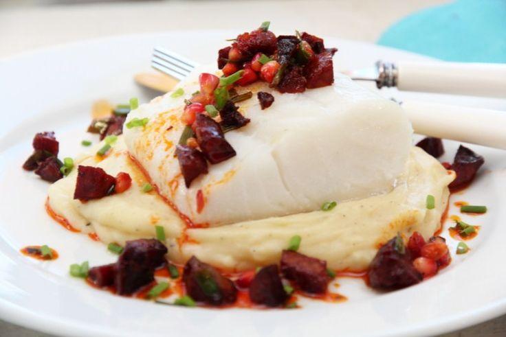 På menyen i dag står deilig ovnsbakt torskeloin med smakfull salsa og pastinakkpurè til.