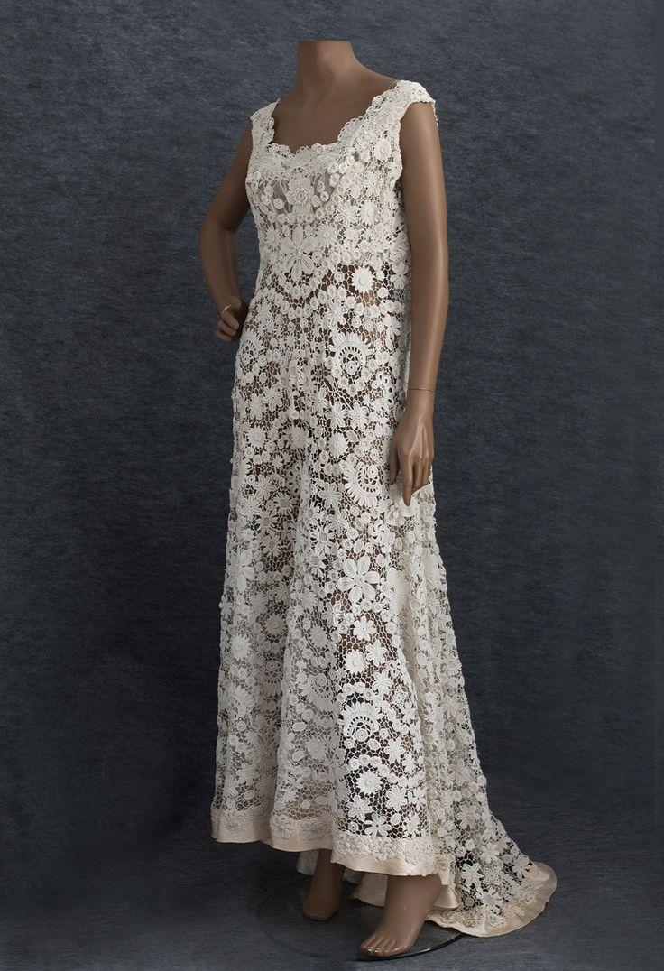 Irish crochet wedding dress crochet pinterest
