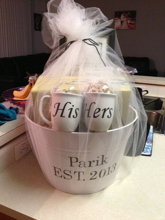 his u0026 hers bridal shower gift basket idea see more bridal shower invitation and party