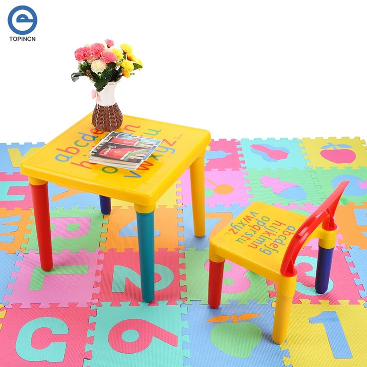 ABC Alphabet Plastic Table and Chair Set For Kid/Children Furniture Sets Dinner Picnic Desk Seat Furniture