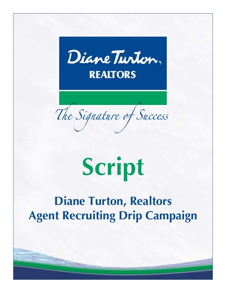 diane-turtonrecruitingdripcampaignscript by Jennifer Pricci via Slideshare
