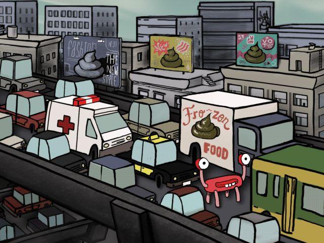 Si ya es malo estar atorado en el tránsito, imagina lo que sufre un ser de otro planeta. Muestra de animación del cortometraje invasión.