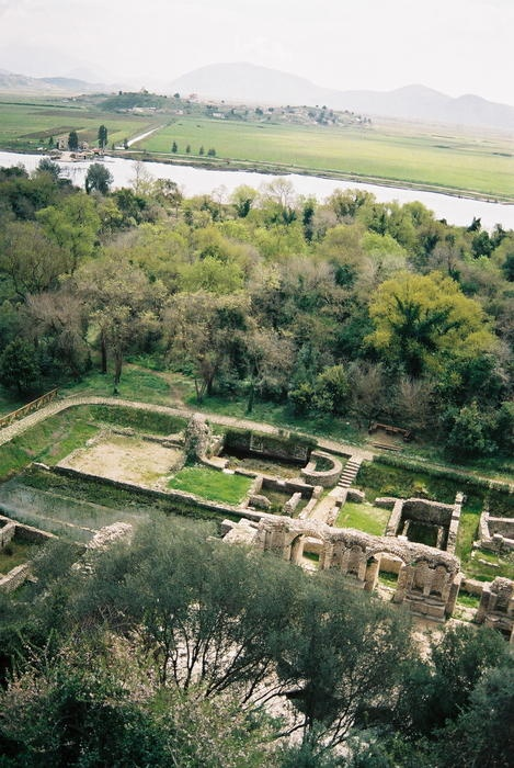 UNESCO World Heritage Site - ruins of Butrint, Albania inhabited since prehistoric times, site of a Greek colony, and a Roman city.