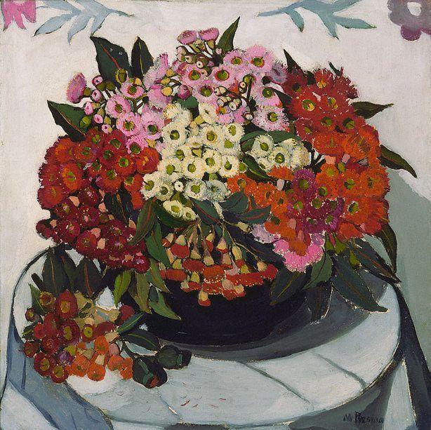 gumblossoms - A bowl of gum blossoms. Margaret Preston