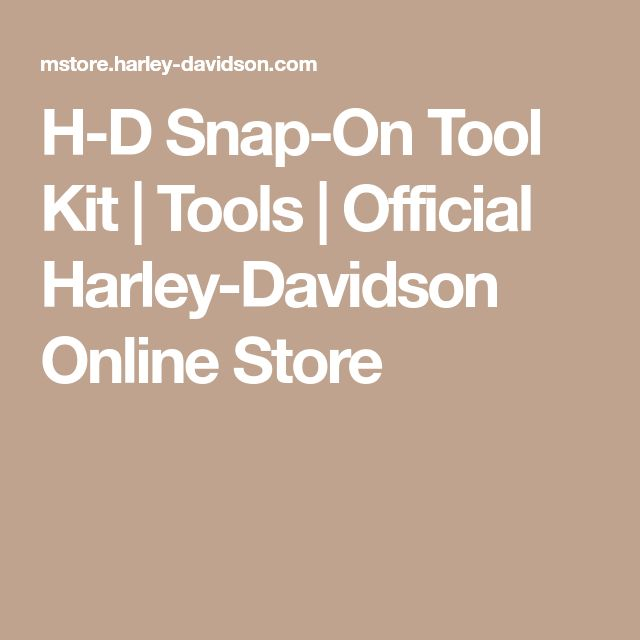 H-D Snap-On Tool Kit | Tools | Official Harley-Davidson Online Store