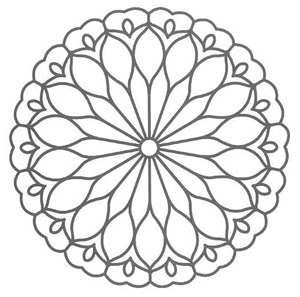simple mandala designs google search - Design Pictures To Color