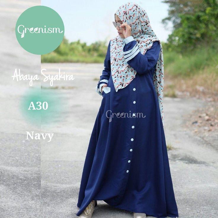 Gamis Greenism Abaya Syakira A230 Navy - baju muslim wanita baju muslimah Untukmu yg cantik syari dan trendy . . - Bahan balotelly - Busui bumil dan wudhu friendly - Hiasan di pergelangan tangan - Kancing bukaan dada selebihnya kancing hiasan - 1 Kantong aktif - Tidak termasuk hijab . . Size chart: XS: LD 90/PB 130 S: LD 95/PB 135 M: LD 100/PB 138 L: LD 104/PB 140 XL: LD 110 /PB 142 . . Ready size L Harga Rp 250.000 (gamis saja) . . Yuuk pesan sekarang juga hanya di Gamis Hijab Shabby Chic…