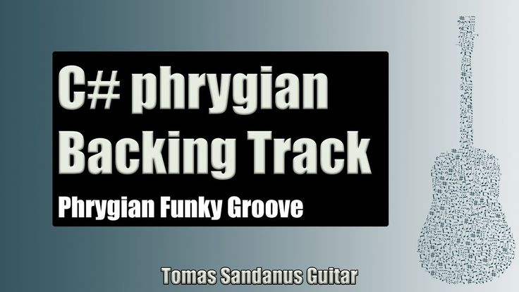 Phrygian Funky Groove | Guitar Backing Track Jam in C# phrygian mode wit...