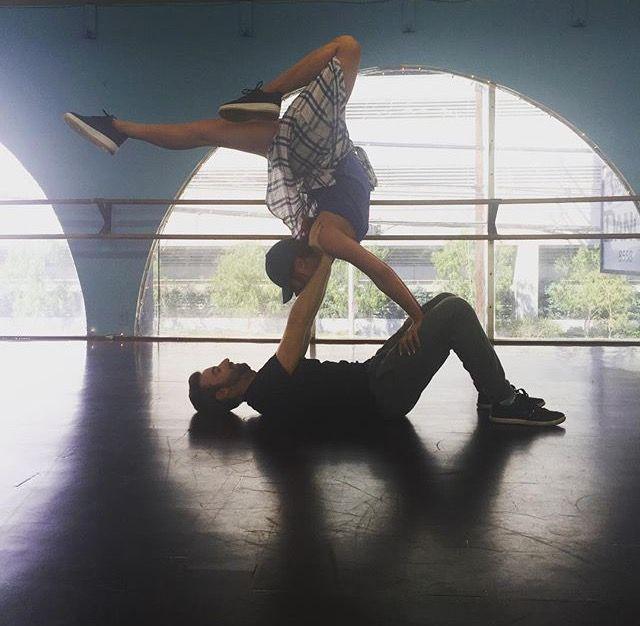 Sharna Burgess and James Hinchcliffe #TeamStopAndGo