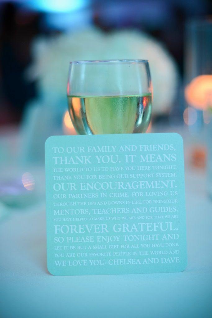 Wedding Reception Thank You Cards - Spearmint Tiffany Blue #beachwedding #spearmintwedding #tiffanybluewedding #weddingthankyoucards