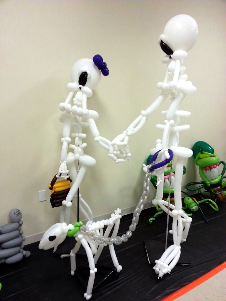 strolling skeletons halloween balloonsskeletonsbonesskullcare - Halloween Balloon Animals