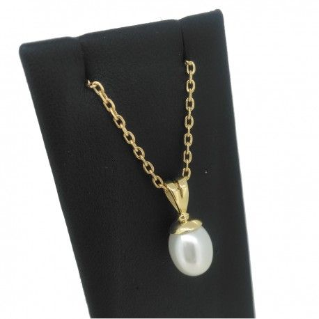 Pendentif Victoria en or 18 carats et perle de culture d'eau douce.    Victoria 18k gold pendant with a drop shape white cultured pearl.    #Poemana #pearl #pearls #gold #jewelry #jewellery #bijoux #or #perles #madeinFrance