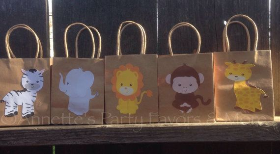 Jungle/Safari Party Favor Bags by AnnettesPartyFavors on Etsy, $15.00