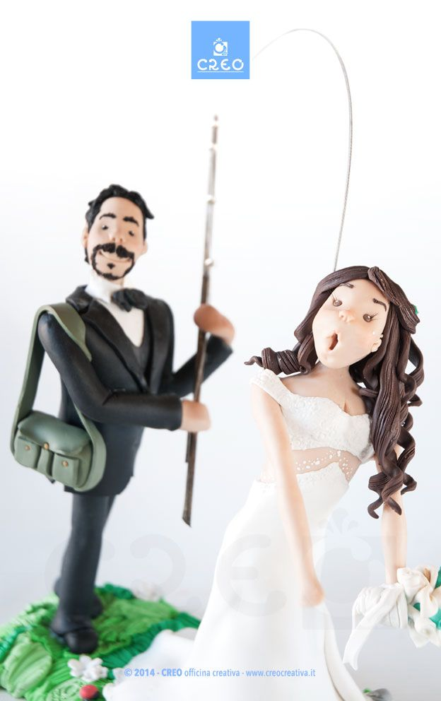 Sposini sulla torta divertenti   #weddingday #marriage #married #torta #cake #unico #originale #matrimonio #CREO #HandMadeInItaly