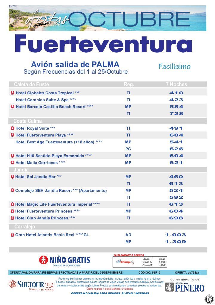 Hoteles en Fuerteventura, salidas en Octubre desde Palma de Mallorca - 5a Edición ofertas Octubre - http://zocotours.com/hoteles-en-fuerteventura-salidas-en-octubre-desde-palma-de-mallorca-5a-edicion-ofertas-octubre/