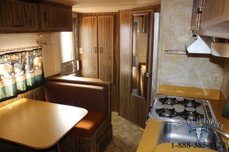 Interior 1976 Prowler Travel Trailer Glamping