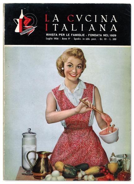 La Cucina Italiana magazine cover  July 1956  La Cucina Italiana  Italian Recipes Vintage