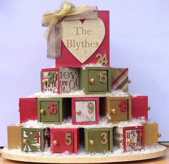 Advent Calendar, Wooden Advent Calendar
