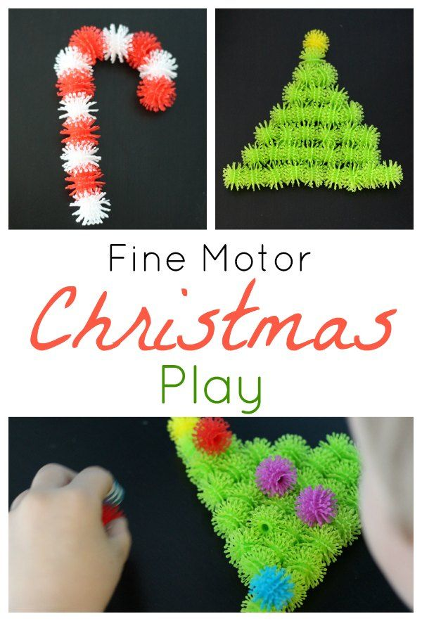 A building toy with endless possibilities! Fine Motor Christmas Play