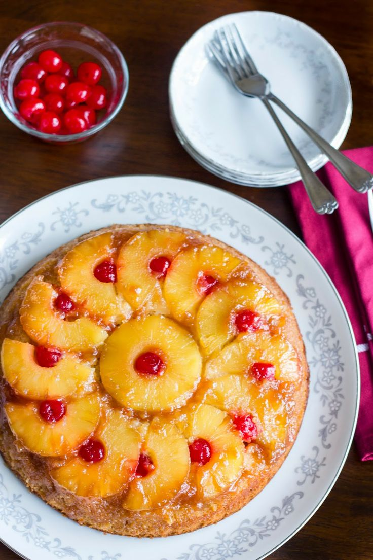 Applesauce Pineapple Upside Down Cake