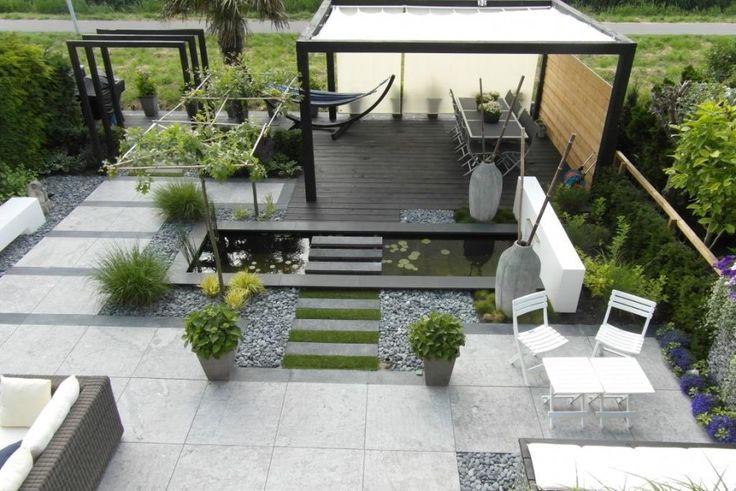 contemporary garden layout
