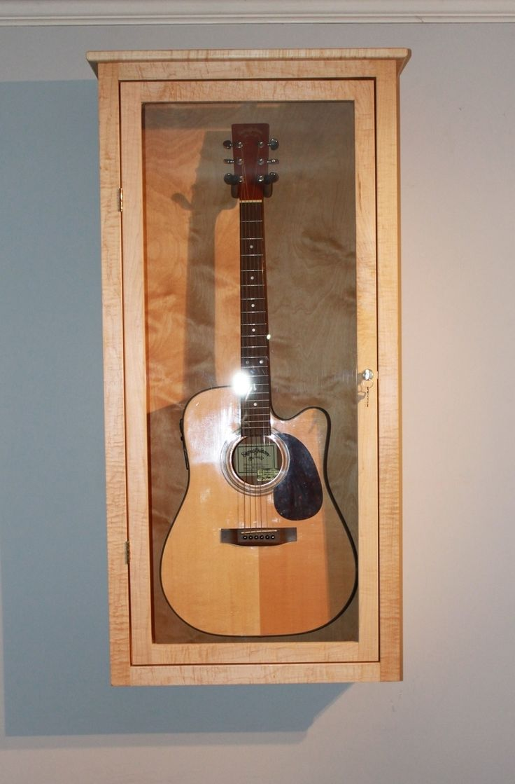 Guitar Display Case, Wall Mounted