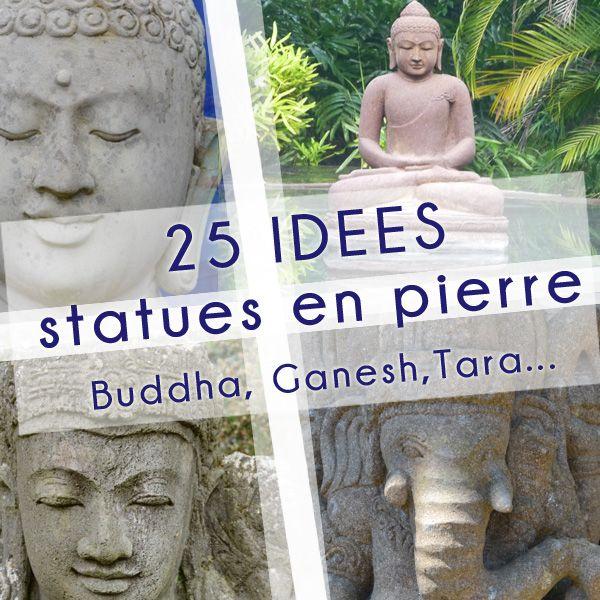 Votre jardin brest 25 id es de statues en pierre rue - Tete de bouddha en pierre pour jardin ...