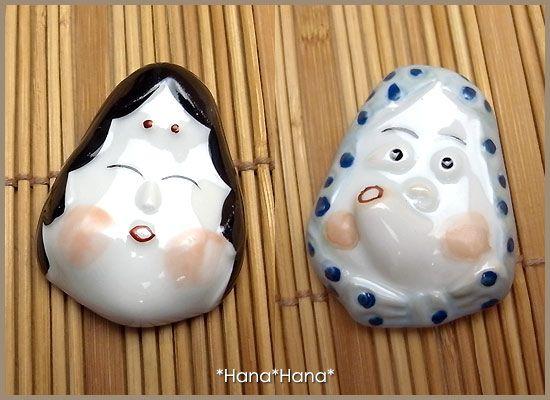 Okame & Hyottoko hashioki.........v