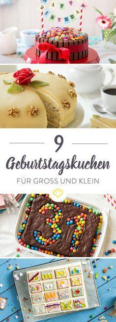 Geburtstagsuchen für alle! Für Mama Lübecker Marzipantorte, für Papa schokoladiger Guinness-Kuchen und für die Kleinen ein bunter Butterkekskuchen.