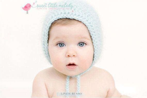 Baby Bonnet Newborn Bonnet Crochet Bonnet by SweetLittleMelody