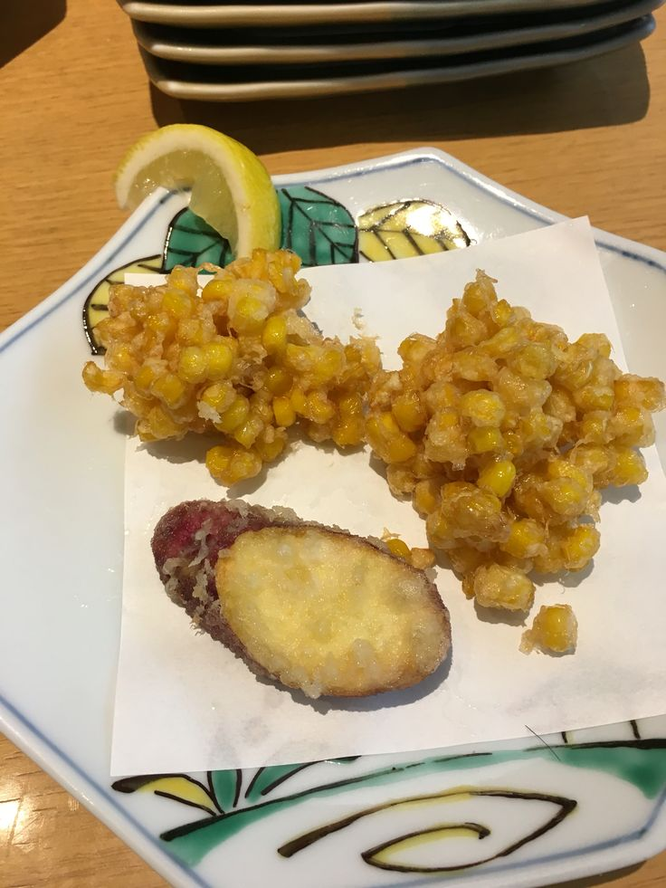 #味平  東豊中Osaka とうもろこし天ぷら なると金時芋天ぷら