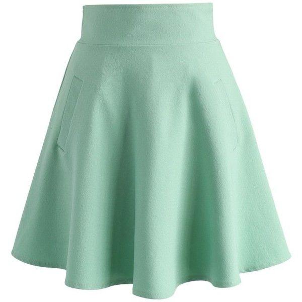 Neon Green Skater Skirt April 2017