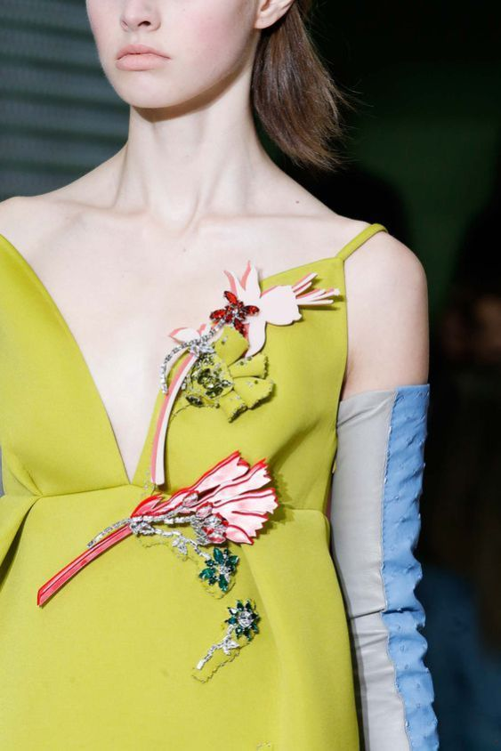 Applique Brooches on Dress