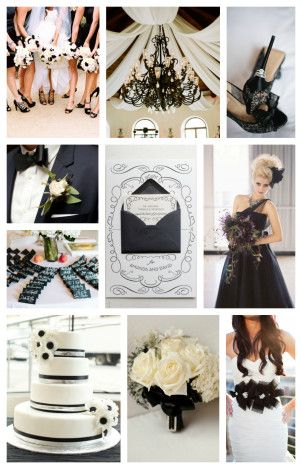 Black & White Inspired Wedding Board