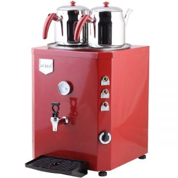 Elektrikli Çay Kazanı Makinesi 2 Demlikli Jumbo