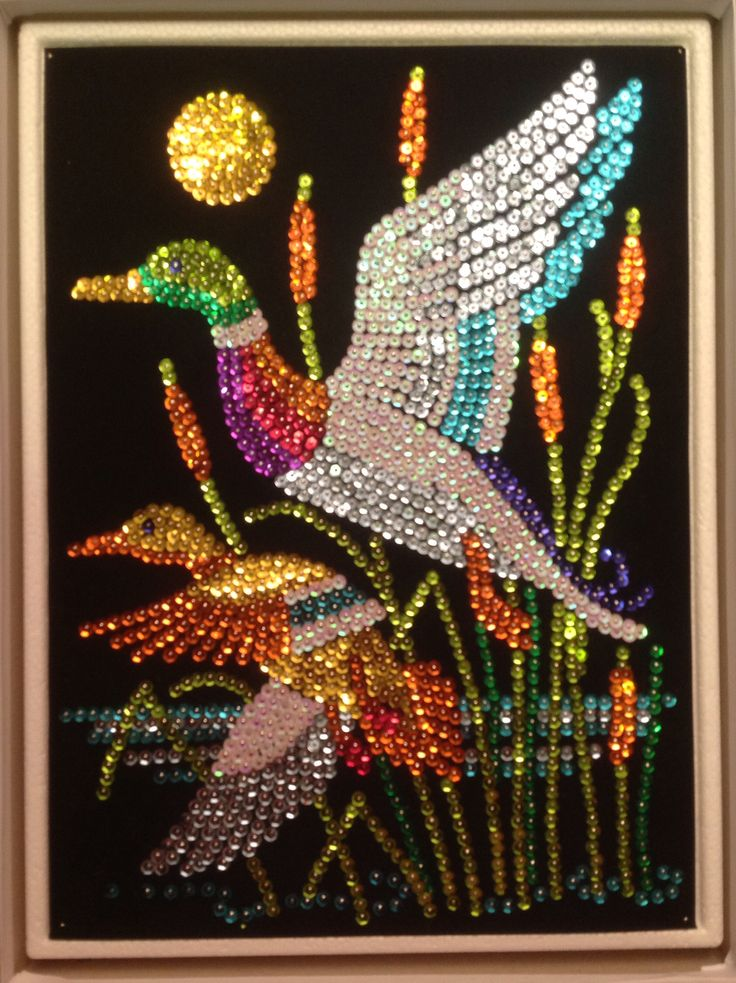 Sequin Art ducks