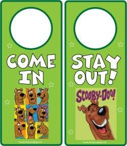 Scooby Boy Door Hangers