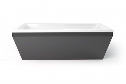 Nickel freestanding bath from Utopia Bathrooms.