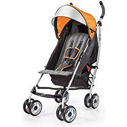 Summer Infant 3Dlite Convenience Stroller, Tangerine Orange