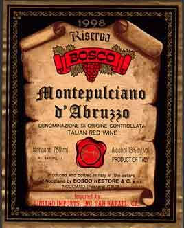 Italian Wine Labels: Wine Labels from Italy: Articles and Italian Wine Description - Italian Wine Importer and Producer
