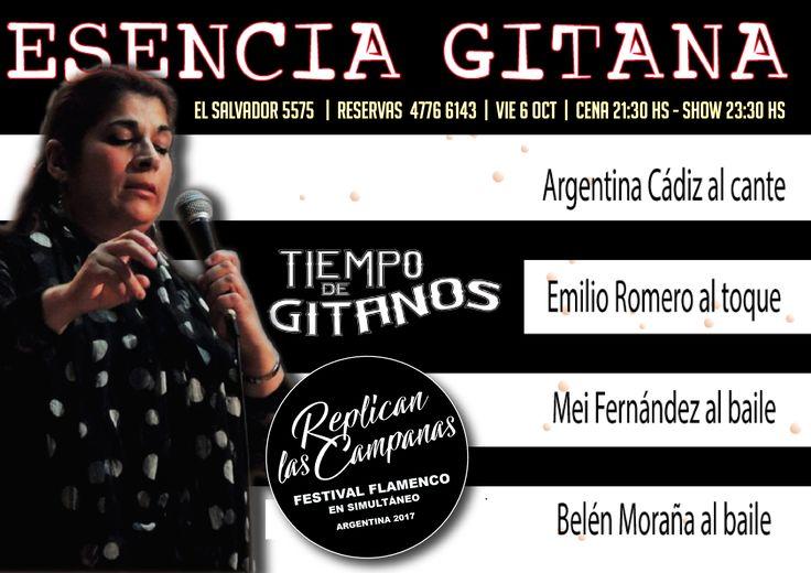 No te pierdas mañana ESENCIA GITANA en Tiempo de Gitanos!!! Reservas 4776 6143