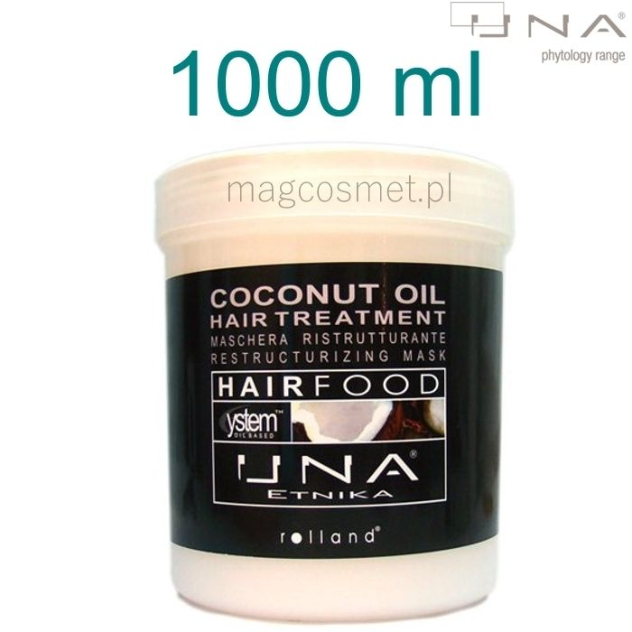 Una Coconut Oil Hair Treatments Maska Kokosowa 1000ml - Drogeria Internetowa - Magcosmet