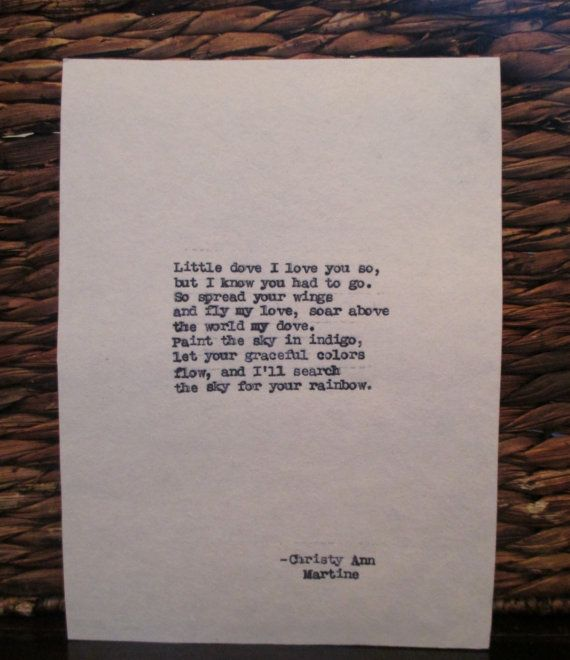 Sympathy Gift Little Dove Poem Loss of Child Baby Loss Grief Quotes and poems by Christy Ann Martine