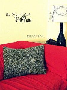 knit & sew pillow