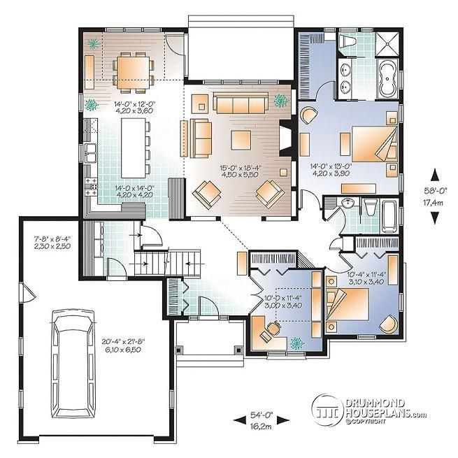 Three Homes With A Contemporary Twist On Rustic Design: 1st Level U Shape House Design With 2-3 Beds, Modern