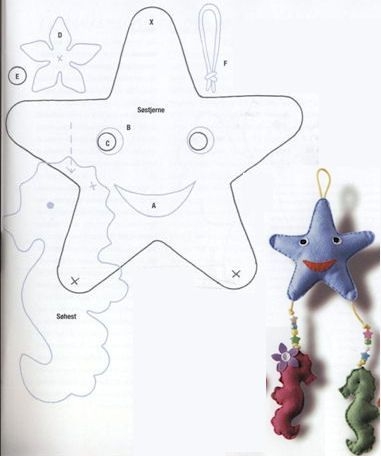 welkom baby starfish and seahorse applique`