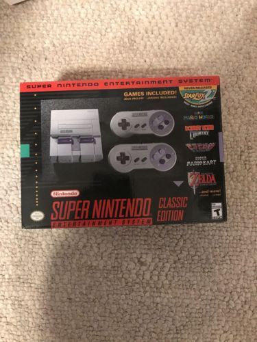 Super Nintendo Entertainment System: Super NES Classic Edition SNES: $99.00 End Date: Thursday Mar-15-2018 15:26:48 PDT Buy It Now for…
